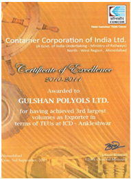 Exporter certificate from Concor