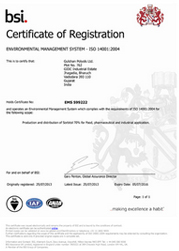 EMS ISO 14001:2004 Certificate