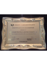 Colgate- Palmolive (India) Limited Certificate of Recognition, 2014